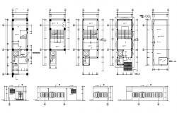 Single Storey Building Facade Design and Plan CAD Drawing