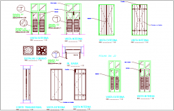 Single and double door design with detail
