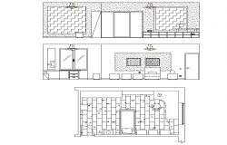 Single bed room plan  dwg file