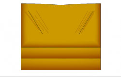 Single chair of sofa 3d block design dwg file