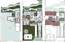 Single family bungalow architecture project dwg file