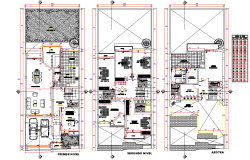 Single family home plan autocad fil