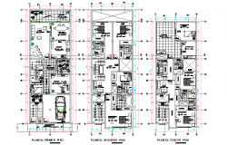 Single family home plan autocad file