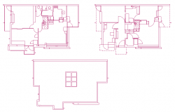 Single family home plan dwg file
