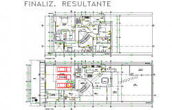 Single family home planning detail dwg file