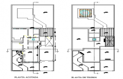 Single family home plans dwg file