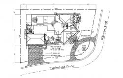 Single family house 135.89' x 110.0' with detail dimension in AutoCAD
