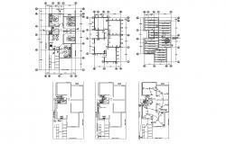 Single-family house 7.00mgtr x 17.00mtr with detail dimension in dwg file
