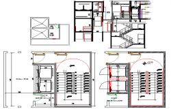 Single family house architecture project dwg file