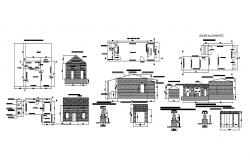 Single family house detailed architecture project dwg file