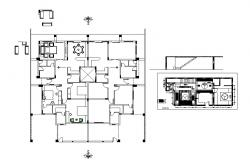 Single family house finished floor plan and auto-cad details dwg file