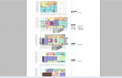 Single family house floor plan cad drawing details dwg file