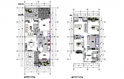 Single family house layout file