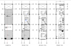 Single family house plan autocad file