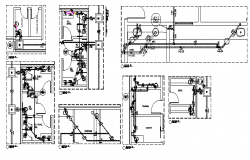 Single family house plumbing details dwg file