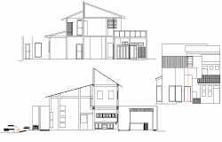 Single family house section autocad file