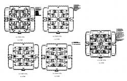 Single family house with detail dimension in dwg file