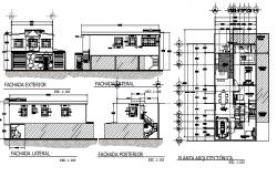 Single family housing full project dwg file