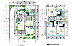 Single family project house plan autocad file
