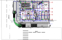 Single family two flooring bungalow parking lot design dwg file