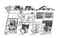 Single family two-level house detailed architecture project dwg file