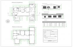 Single house architecture projects and detail plan