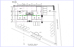 Single water line view of air condition line of office premises for low plan dwg file