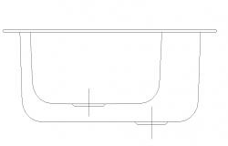 Sink Elevation 2D Autocad Block