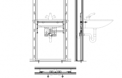 Sink detail dwg file