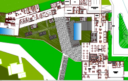 Site Plan and Landscaping of Five Star Hotel Project dwg file