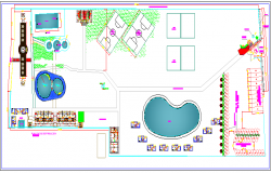 Site Plan of Arc Club House Architecture Layout dwg file