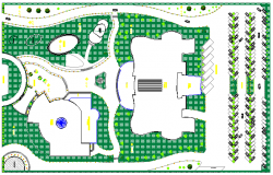 Site Plan of City Library Design and Architecture Plan dwg file
