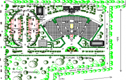 Site Plan of Genera Hospital Complex dwg file