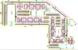 Site Plan of Multi-Family Housing Project dwg file