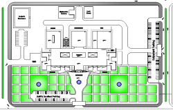 Site Plan of Multi-Flooring Hospital Design dwg file