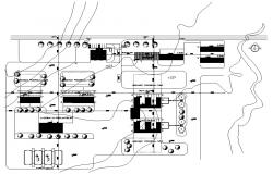 Site area AutoCAD drawing