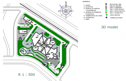 Site landscaping plan detail dwg file