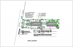 Site layout of computer business commercial building dwg file