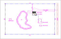 Site map location of bungalow plan view detail dwg file