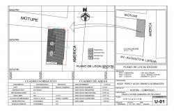 Site plan and location map details of multi-story hotel building dwg file