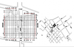 Site plan and location map of industrial plant dwg file