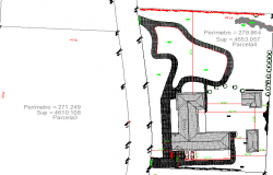 Site plan and location map view of colonial house dwg file