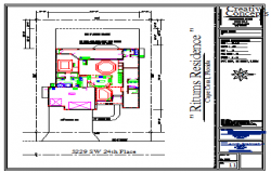 Site plan design drawing of bungalow design drawing