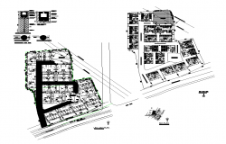 Site plan detail 2d view layout file