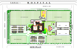 Site plan detail dwg file