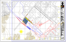 Site plan details of auditorium hall of college dwg file