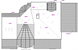 Site plan details of commercial business center dwg file