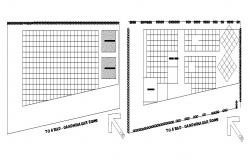 Site plan details of convocation plaza with hostel building dwg file