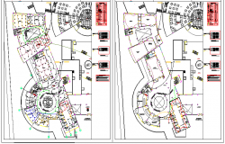 Site plan details of culinary center-map dwg file