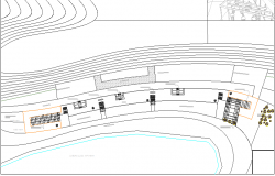 Site plan details of department store city shopping center dwg file